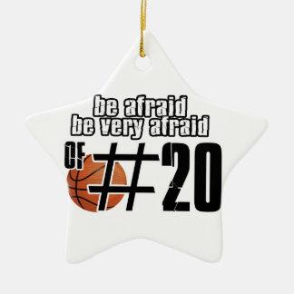 Diseños del baloncesto del número 20 adornos