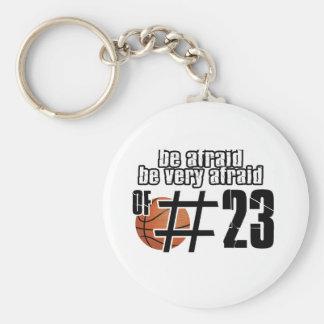 Diseños del baloncesto del número 23 llavero