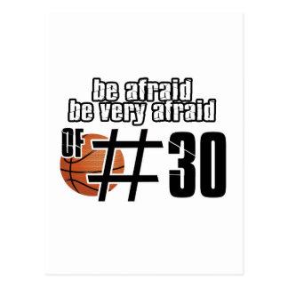 Diseños del baloncesto del número 30 postales
