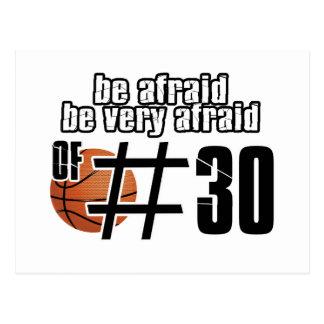 Diseños del baloncesto del número 30 tarjeta postal