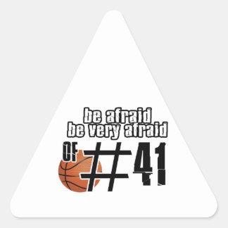 Diseños del baloncesto del número 41 pegatinas de triangulo