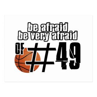 Diseños del baloncesto del número 49 postales