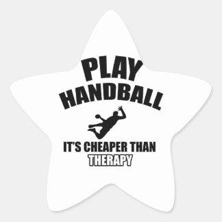 Diseños del balonmano pegatina en forma de estrella