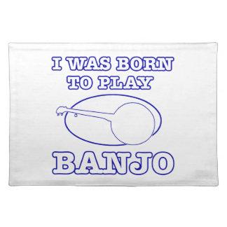 diseños del banjo mantel individual