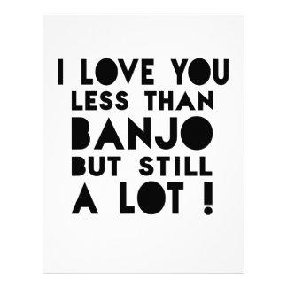Diseños del banjo membrete personalizado