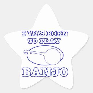 diseños del banjo pegatina en forma de estrella