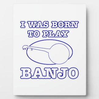 diseños del banjo placas para mostrar