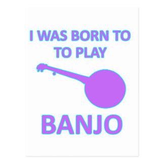 Diseños del banjo tarjetas postales
