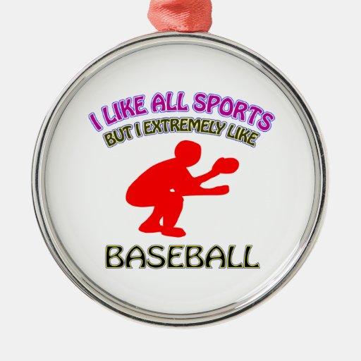 Diseños del béisbol adorno de reyes