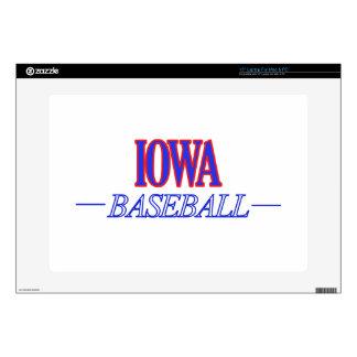DISEÑOS del béisbol de IOWA Calcomanía Para 38,1cm Portátil