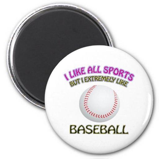 Diseños del béisbol imanes de nevera