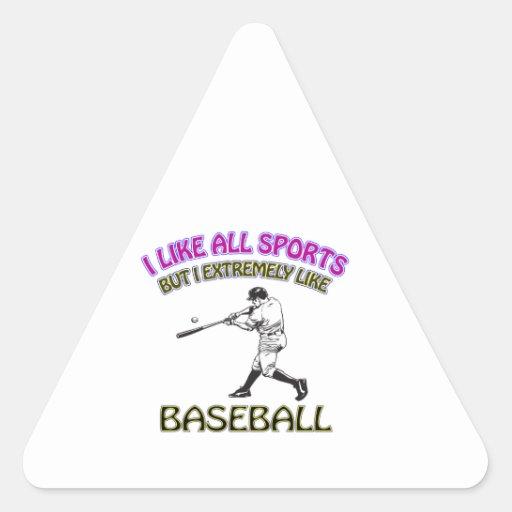 Diseños del béisbol pegatina de trianguladas