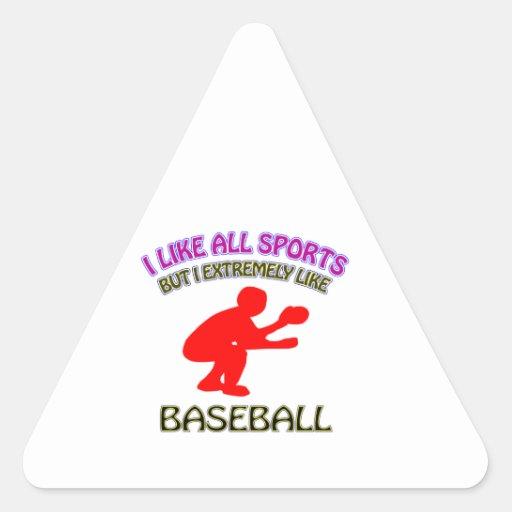 Diseños del béisbol calcomanías de trianguladas