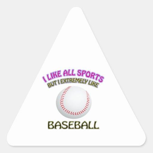 Diseños del béisbol calcomanía de triangulo
