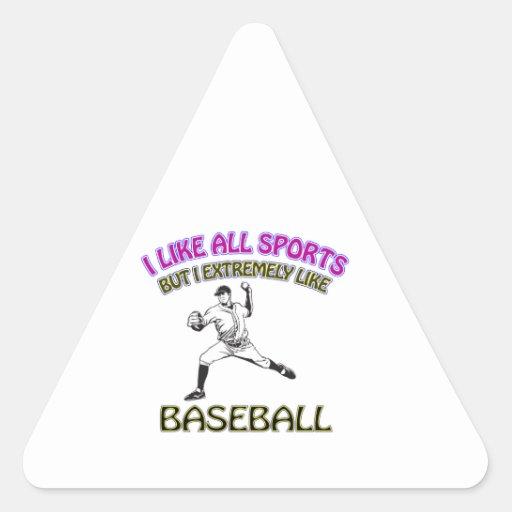 Diseños del béisbol pegatina