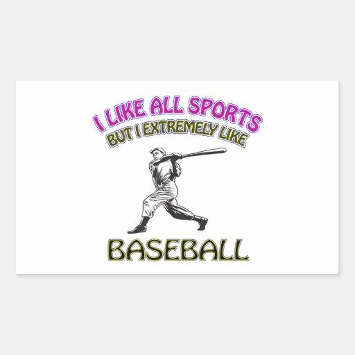 Diseños del béisbol etiquetas