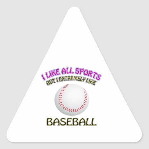 Diseños del béisbol pegatina de triangulo