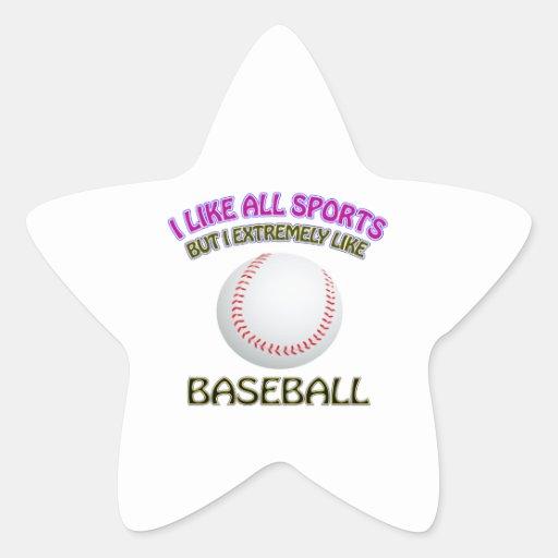 Diseños del béisbol calcomanías forma de estrellaes