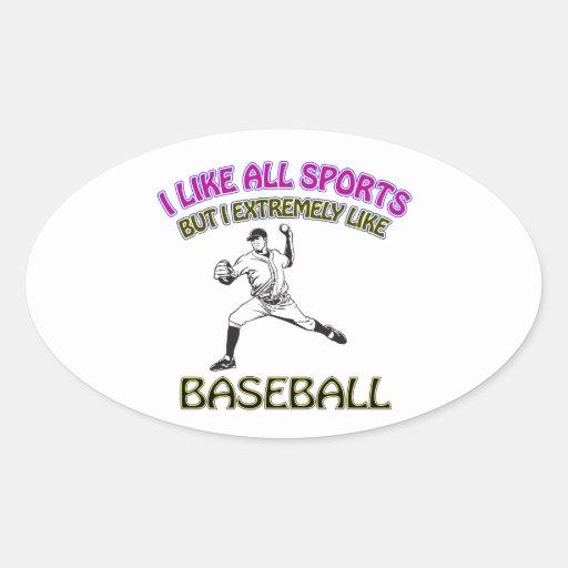 Diseños del béisbol etiqueta