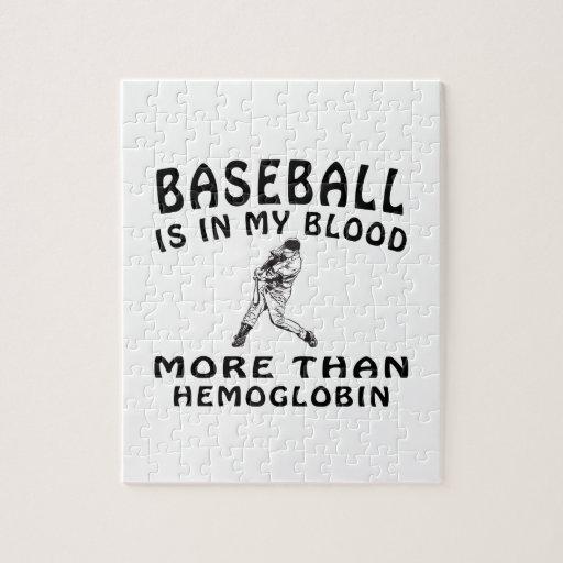 Diseños del béisbol puzzles