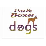 Diseños del boxeador postal