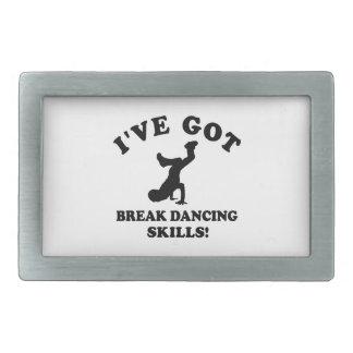 Diseños del break dance hebillas de cinturon rectangulares