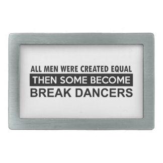 Diseños del break dance hebillas de cinturón rectangulares