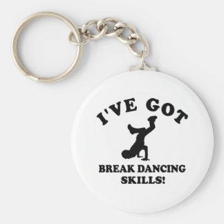 Diseños del break dance llavero redondo tipo pin