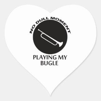 diseños del bugle pegatina en forma de corazón