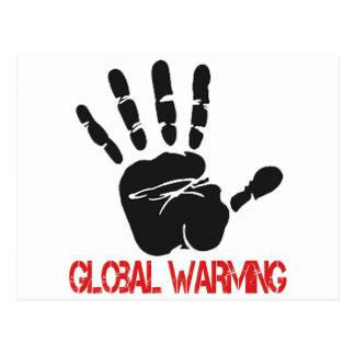 Diseños del calentamiento del planeta postal