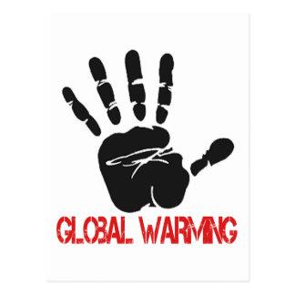 Diseños del calentamiento del planeta tarjeta postal