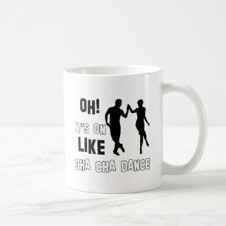diseños del cha del cha del cha tazas de café