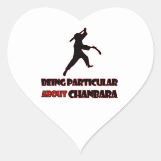 diseños del chanbara pegatina en forma de corazón