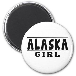 Diseños del chica de Alaska Imán Para Frigorifico