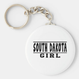 Diseños del chica de Dakota del Sur Llavero Personalizado