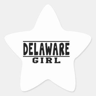 Diseños del chica de Delaware Calcomanías Forma De Estrellaes Personalizadas