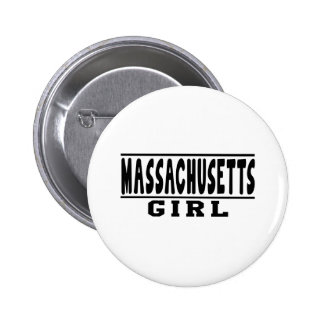 Diseños del chica de Massachusetts Pin