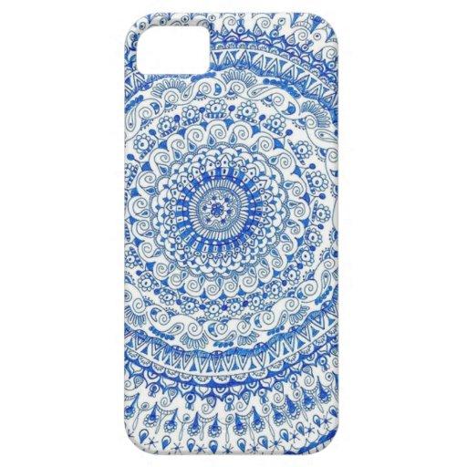 Diseños del círculo de la pluma iPhone 5 Case-Mate coberturas