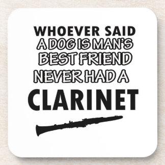 diseños del clarinet posavasos de bebidas
