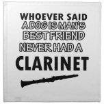 diseños del clarinet servilleta imprimida