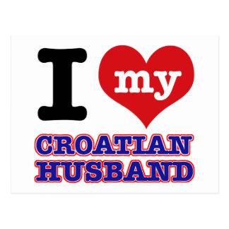 Diseños del corazón del croata I Postal