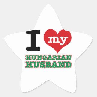 Diseños del corazón del húngaro I Colcomanias Forma De Estrella