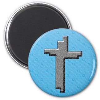 Diseños del cristianismo imán redondo 5 cm