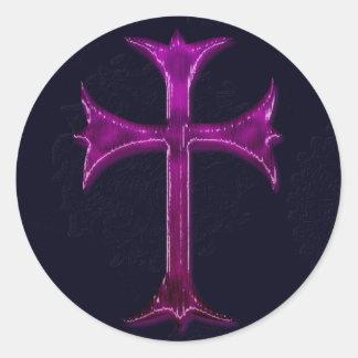 Diseños del cristianismo pegatina redonda