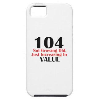 diseños del cumpleaños de 104 años iPhone 5 carcasas