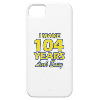 DISEÑOS DEL CUMPLEAÑOS DE 104 AÑOS iPhone 5 FUNDAS
