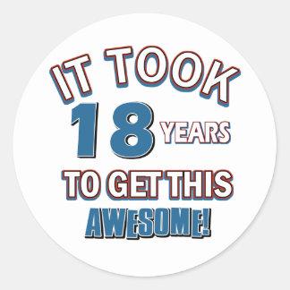 diseños del cumpleaños de 18 años etiquetas