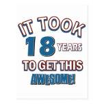 diseños del cumpleaños de 18 años postales