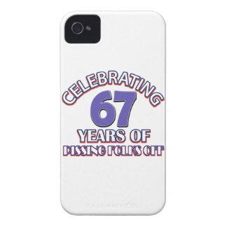 diseños del cumpleaños de 27 años iPhone 4 Case-Mate funda