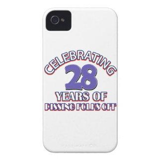 diseños del cumpleaños de 28 años iPhone 4 Case-Mate cárcasas